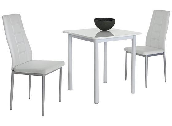 Stolová Súprava Single G - biela, Moderný, kov/kompozitné drevo (70/75/70cm)