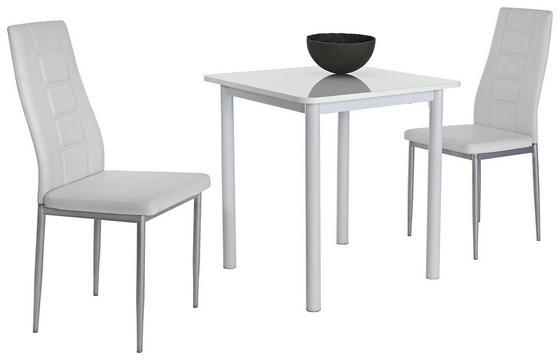 Stolová Súprava Single G - biela, Moderný, umelá hmota/kov (70/75/70cm)