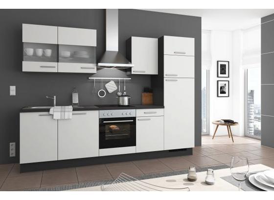 k chenzeile mit 5 e ger ten sp le und vitrinen. Black Bedroom Furniture Sets. Home Design Ideas