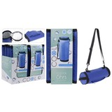 Kühltasche B: 13 cm Blau - Blau/Schwarz, Basics, Kunststoff (13/30cm)