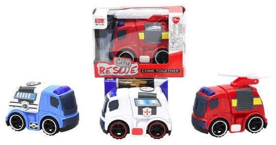 Spielfahrzeug Einsatzfahrzeuge - Blau/Rot, Kunststoff (9,5/8,0/5,5cm)