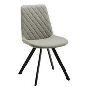 Židle Rieke - černá/světle šedá, Moderní, kov/textil (48/83,5/44cm) - Modern Living