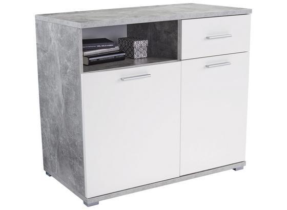 Komoda Roma 2 - biela/taupe, Moderný, kompozitné drevo (100/80/45cm)