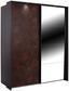Schwebetürenschrank Meppen 226 cm In Rostoptik - MODERN, Holzwerkstoff (226/210/62cm)