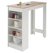 Bartisch Mojito L: ca. 115 cm - Eichefarben/Weiß, Design, Holzwerkstoff (115/50/103cm) - MID.YOU