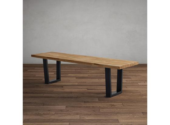 Lavica Kayla Dub Masív - farby dubu, Moderný, drevo (175/46/45cm) - Modern Living