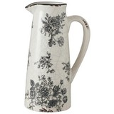 Dekokrug Anny - Schwarz/Weiß, Basics, Keramik (13/9/20cm)