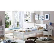 Bett Bora 90x200 cm Weiß - Weiß, Natur, Holz (90/200cm) - Carryhome