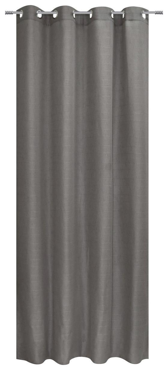 Ösenvorhang Beate - Schwarz, MODERN, Textil (140/245cm) - Luca Bessoni