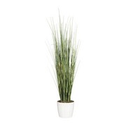 Kunstpflanze Ziergras H: 155 cm - Weiß/Grün, Basics, Kunststoff (155cm) - MID.YOU