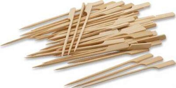 Nyárs Bambusz - világosbarna, konvencionális, fa (15cm)