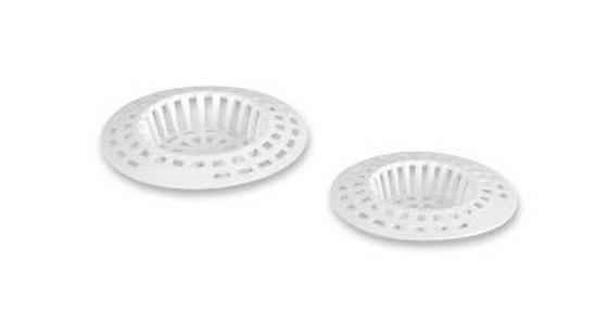 Abflusssieb Weiß - Weiß, KONVENTIONELL, Kunststoff (6cm)