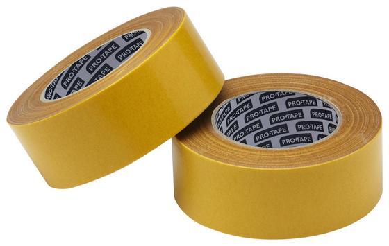 Teppichverlegeband Weiß - Gelb, KONVENTIONELL, Kunststoff (10cm) - Gebol