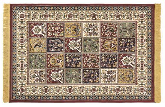 Teppich Isphahan 120x170 cm - Beige/Rot, KONVENTIONELL, Textil (120/170cm)