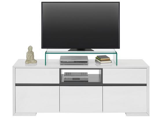 Komoda Lowboard Frame - šedá/bílá, kompozitní dřevo (150/56/40cm) - Modern Living