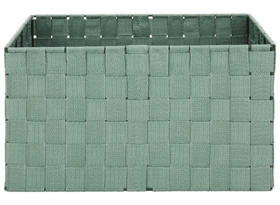 Koš Charlotte - jadeitově zelená, kov/umělá hmota (33,5/23,5/18cm) - Mömax modern living