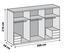 Drehtürenschrank Level 36a 300cm Weiß/eiche - Eichefarben/Weiß, MODERN, Holzwerkstoff (300/216/58cm)