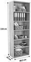 Regal Mindi - Eichefarben/Grau, MODERN, Holzwerkstoff/Kunststoff (80,5/219,9/34,1cm)