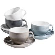 Kaffeetasse 8-Tlg. Kaffeetassen Set Derby - Blau/Beige, Basics, Keramik (40/30/20cm) - Mäser