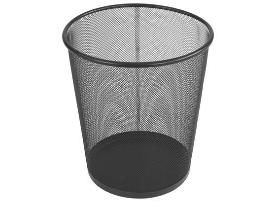 Kôš Na Papier Mesh - čierna, Moderný, kov (30,5/34,5cm) - Homezone