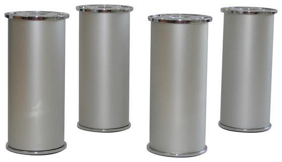 Fußset zum Badezimmerprogramm Phönix 4-teilig aus Aluminium - Alufarben, MODERN, Metall (5/12-13cm)