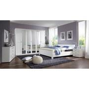 Bett Höhenverstellbar 180x200 Chalet, Weiß - Weiß, KONVENTIONELL, Holzwerkstoff (180/200cm) - Cantus