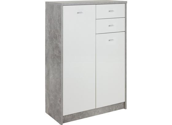 Komoda 4-you New Yuk08 - sivá/biela, Moderný, kompozitné drevo (74/111,4/34,6cm)