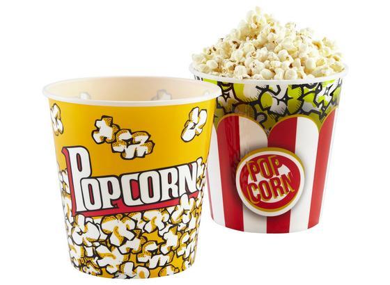 Nádoba Na Popcorn Poppy - biela/červená, plast (18/18cm) - Modern Living