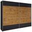 Skriňa S Posuvnými Dvermi Landeck - farby dubu/grafitová, Moderný, kompozitné drevo (261/210/59cm)