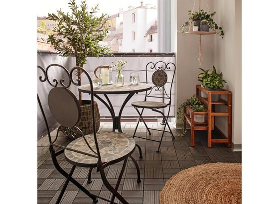 Balkónová Súprava Grace - čierna/viacfarebné, Moderný, kov/kameň (60/36/70/90/60/36cm) - Mömax modern living