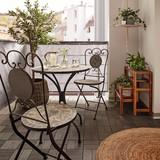 Sada Na Balkon Grace - černá/vícebarevná, Moderní, kov/kámen (60/36/70/90/60/36cm) - Mömax modern living
