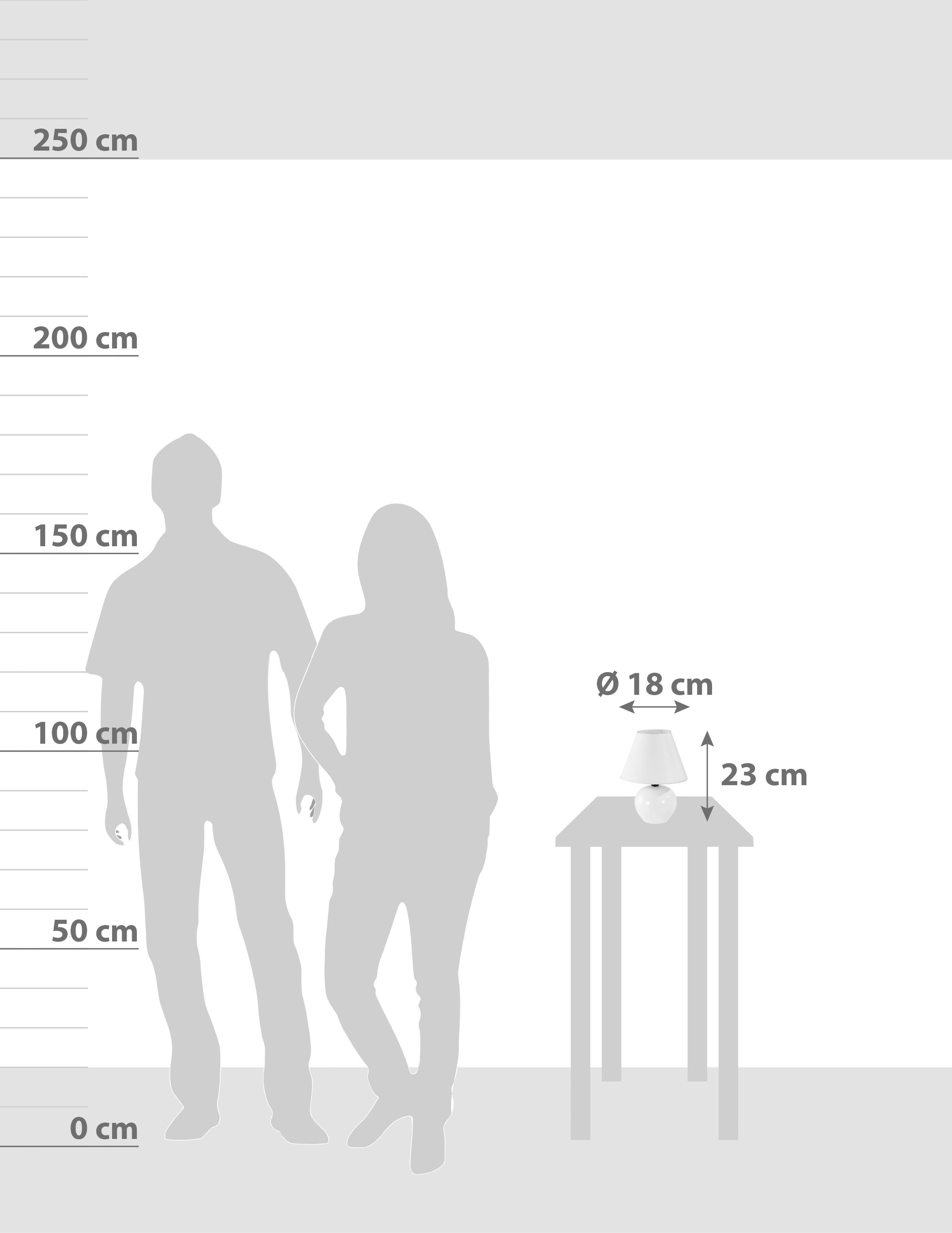 Tischlampe Cindy Größenverhältnis
