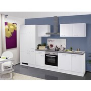 Küchenblock Lucca 310cm Weiß - Weiß, KONVENTIONELL, Holzwerkstoff (310cm) - MID.YOU