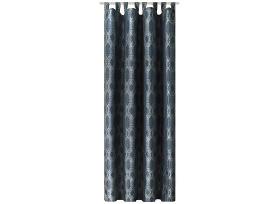 Kombivorhang Anka - Blau, ROMANTIK / LANDHAUS, Textil (140/255cm) - James Wood