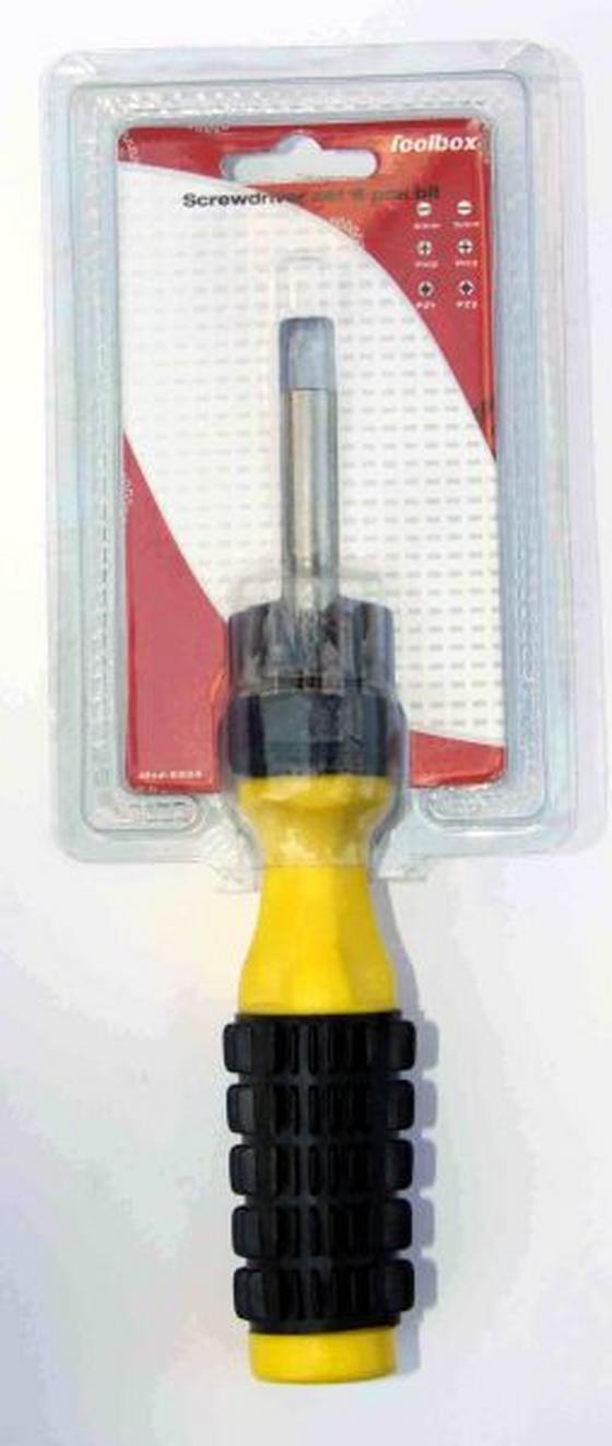 Csavarhúzó 6 Bites - konvencionális (16x12x4cm)