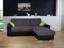 Sarokgarnitúra Fulton - Sötétszürke/Fekete, modern (260/160cm)
