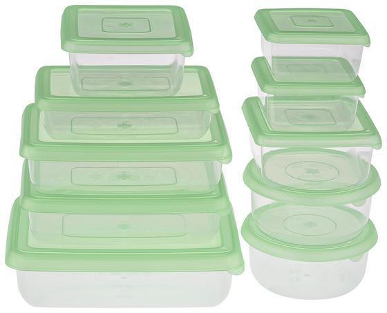 Frissentartó Doboz Sonja - Zöld/Átlátszó, konvencionális, Műanyag (40/25/15cm) - Plast 1