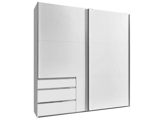 Schwebetürenschrank mit Schubladen 200cm Level 36a - Weiß, MODERN, Holzwerkstoff (200/216/65cm)