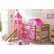 Spielbett Toby R 90x200 cm Pink - Pink/Naturfarben, Natur, Holz (90/200cm) - Carryhome