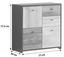 Kommode Sanne B:77cm Schwarz/ Alteiche Dekor - Eichefarben/Schwarz, MODERN, Holzwerkstoff/Kunststoff (77,2/77,5/29,6cm)