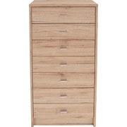 Kommode B 50cm 4-You, Eiche Dekor - Dunkelbraun/Weiß, MODERN, Holzwerkstoff (50/111,4/34,6cm)