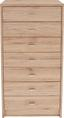 Komoda 4-you Yuk11 - biela/tmavohnedá, Moderný, kompozitné drevo (50/111,4/34,6cm)