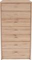 Komoda 4-you Yuk11 - bílá/tmavě hnědá, Moderní, kompozitní dřevo (50/111,4/34,6cm)