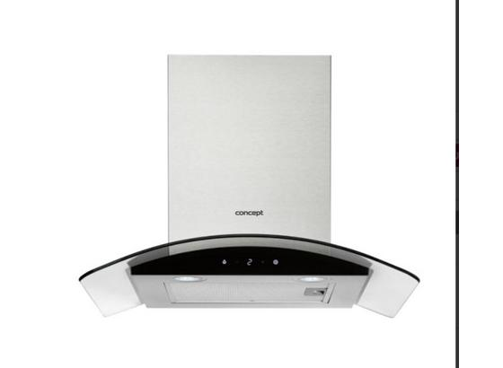 Digestoř Opk2660 - bílá/černá, Natur, kov/sklo (60/42,5/50cm) - Concept