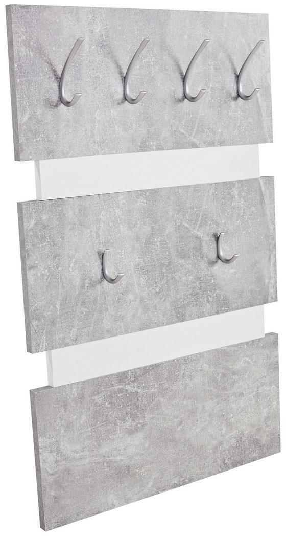 Garderobenpaneel Moya - Weiß/Grau, MODERN, Holzwerkstoff/Kunststoff (70/99/2cm)