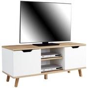 TV-Regal Turin B: 140 cm Weiß, Wotan Eiche - Eichefarben/Weiß, MODERN, Holzwerkstoff (140/55/40cm)
