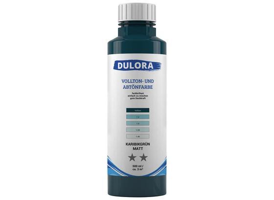 Abtönfarbe 500ml Karibikgrün Matt - Blau/Grün, Kunststoff (0,500l) - Dulora
