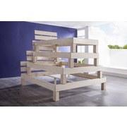 Futonbett Echtholz Massiv 90x200 Julia, Buche Weiß - Buchefarben/Weiß, Design, Holz (90/200cm) - Livetastic