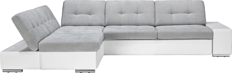 Sedací Souprava Velato - šedá/bílá, Moderní, umělá hmota (200/310cm) - Based