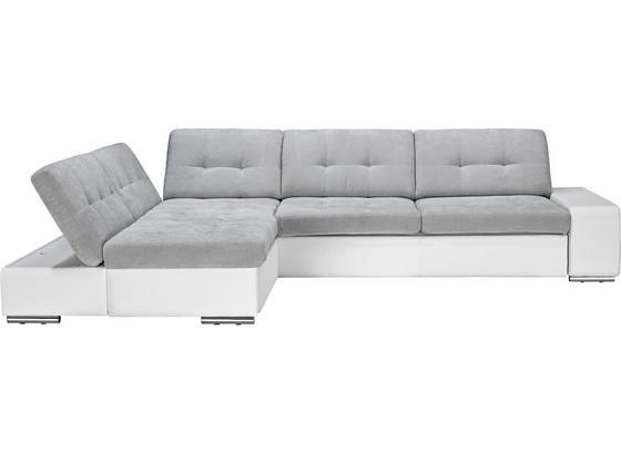 Sedacia Súprava Velato - sivá/biela, Moderný, plast (200/310cm) - Based